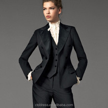 Newest style 3 Pieces Slim-fit Womens Professional Suits 2014