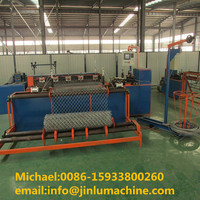 Automatic cnc chain link wire mesh fence making machine