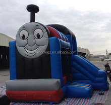 5*5*4m Fire Construction Truck Thomas The Train Inflatable Bounce House