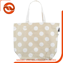 cotton bag for woman factory supply standard size Cotton tote bag with white spots printing