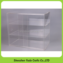 3 tiers rectangle large display showcase clear acrylic material cupcake display cabinet