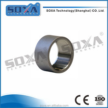 customized size 304 316l stainless steel sanitary NPT half coupling