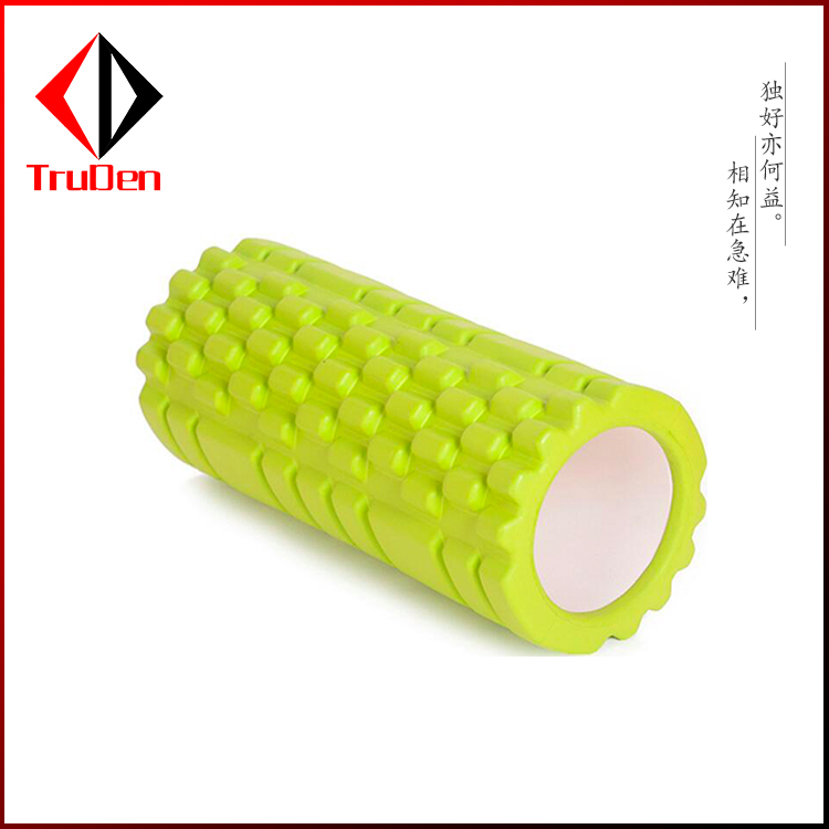 eco friendly high density pilates use solid smooth surface EVA yoga foam roller