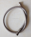 PTFE teflon stainless steel 316 braided hose smooth core with fittings JIC