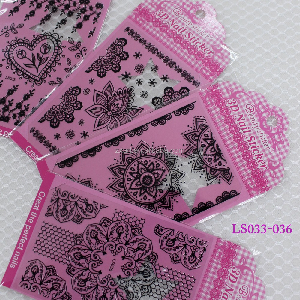 DIY Lace nail remover wrap, Nail Art Sticker, DIY custom nail wrap printing