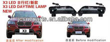 X3 10-12 LED Daytime running light for BMW, Car LED lamp, LED auto light