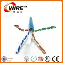 OWIRE High quality cat 6 ftp cable flat patch cord cables/4 pair cat6 utp lan cable
