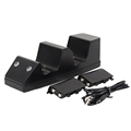Black Double Controller Charging Stand With Battery Packs And USB Cable For XBOX One