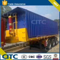 3 axles Flatbed container carrier and transport dump semi trailer trucks