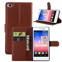 Top quality classical leather phone cases for huawei p8