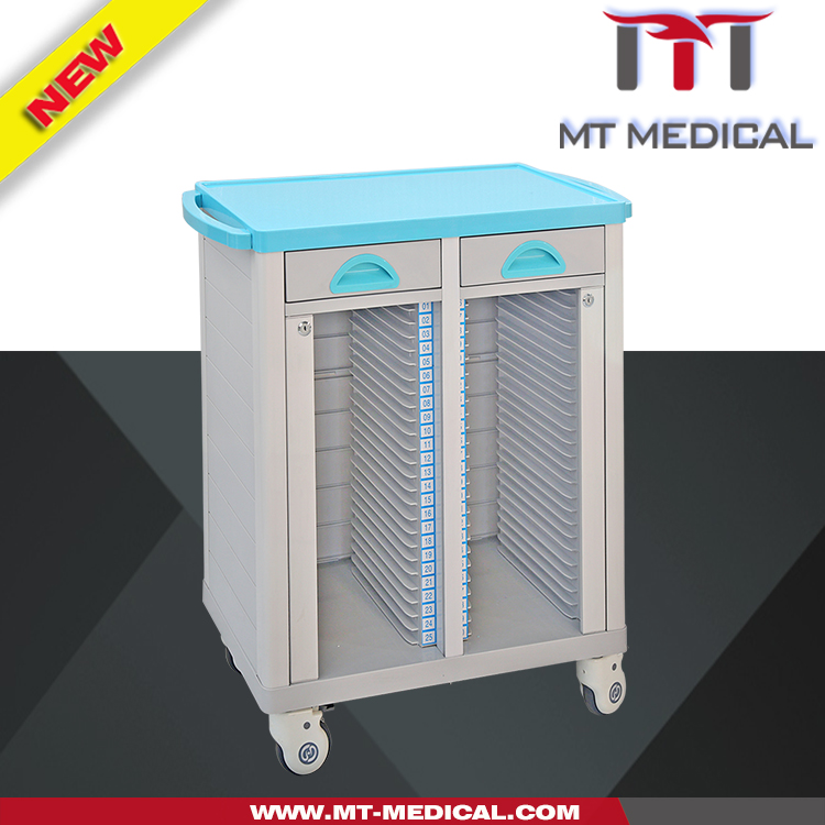 Hospital Equipment medical rolling Carts metal Cart with wheels Case history Folder