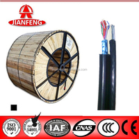 self support aerial telephone cable 0.40mm bare copper conductor, drum packing