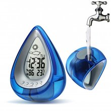 Eco Friendly Water Power Digital Desk Table Clock With Calendar Temperature