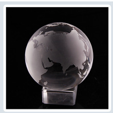 Crystal Glass Global Ball World Map Asian Quartz Marbles Sphere Home Decor Crafts Ornaments Fengshui Paperweight Souvenir