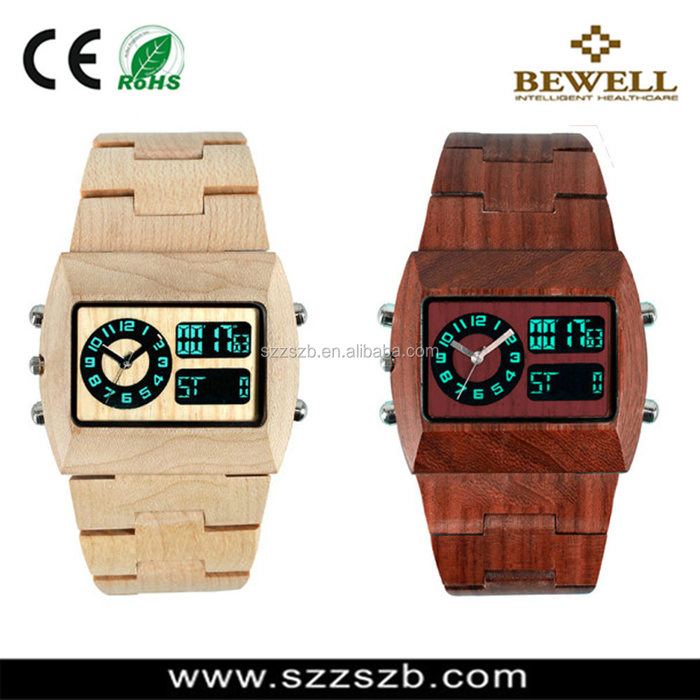 2014 vogue original wood grain/ bamboo Watch with double movement