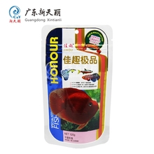 Moisture proof stand up pet fish food animal feed packaging plastic zipper bag