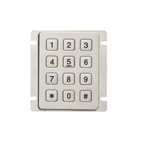 metal push button keypad keypad prepayment meter door lock with dial pad entry
