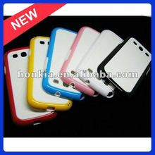 For Galaxy S3 Cover,TPU/PC Material,Clear Style Products