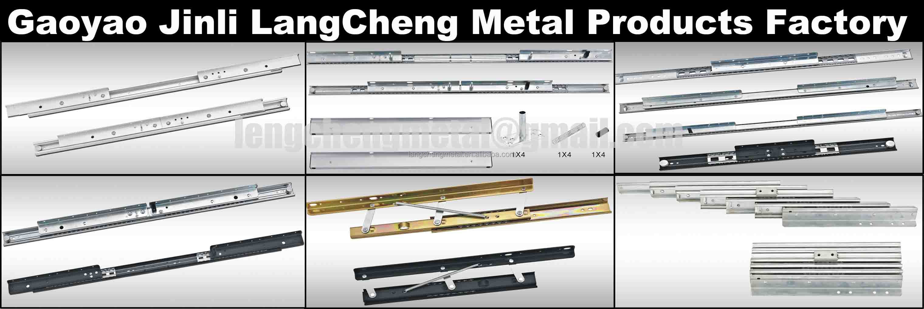 Three Sections Heavy-duty Ball Bearing Table Guide Rail(extension table mechanism)
