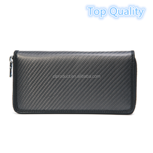 <strong>Fashionable</strong> Man's Carbon Fiber Genuine Leather Wallet