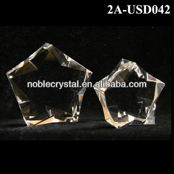 Noble New Design Blank Crystal Penta Star Paperweight