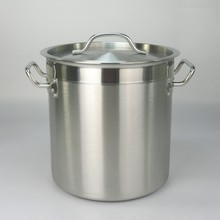 High quality brushed Stainless larger stock pots Industrial Cooking Pots