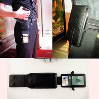 Black men business waist pack leather wallet waistlet case for samsung galaxy note 3 with card slots wholesale