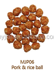 MJP06 Pork with rice ball O'dog myjian dogs and pets snacks training treats