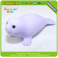 Top Quality Cheap Mini Sea Lion Shaped Eraser From Soododo