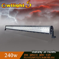 Guangzhou 12v 24v Auto LED Spot Lights 41.5inch 240w LED Light Bars Headlight LED for car tuning parts 4x4 Truck
