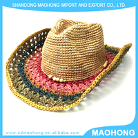 feminine of cowboy straw hats,crazy hat party,crocret straw hats