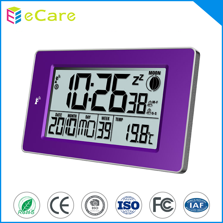 Hot sale alarm desktop digital radio controlled clock wall clock