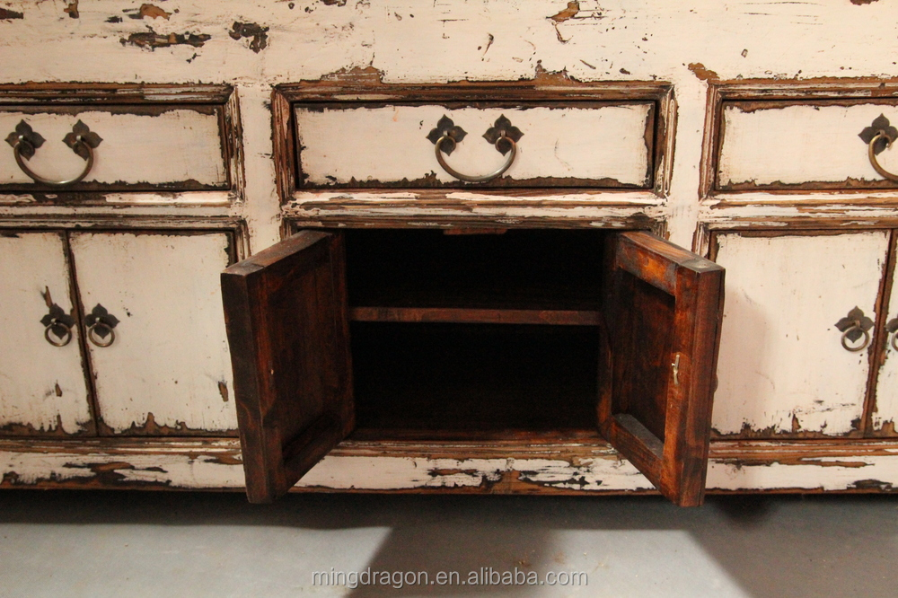 Chinese Antique Distressed TV Cabinet 12062703