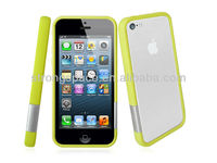 [New arrival] PC bumper case with colorful hasp for iphone 5C