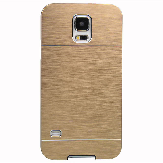 for SAMSUNG GALAXY S5 i9600 Stylish High Quality Brushed Metal Aluminium Case Cover