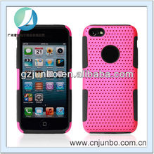 Combo Silicone Mesh Case for iPhone 5C Hybrid Mesh Cover