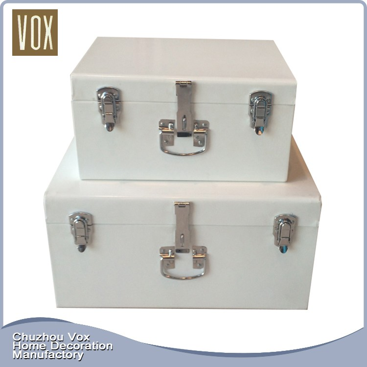 Manufactory Home Decorative Galvanized Steel Trunk