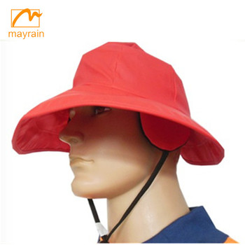 Factory production PVC polyester fisherman rain hat