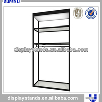 Tailor made Clothing shop wall mounted glass display case