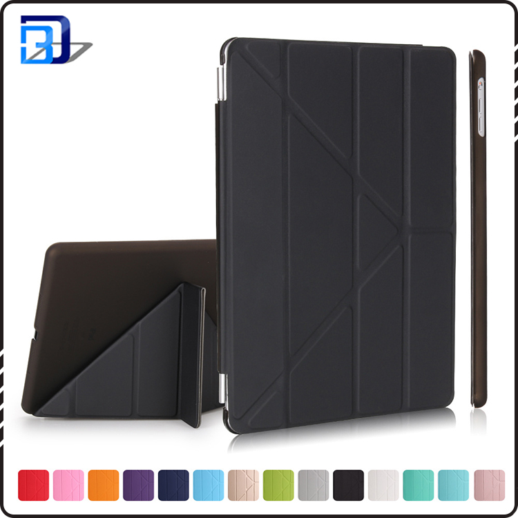 For ipad 9.7 case 3 folding flip leather case smart tablet case cover in stock