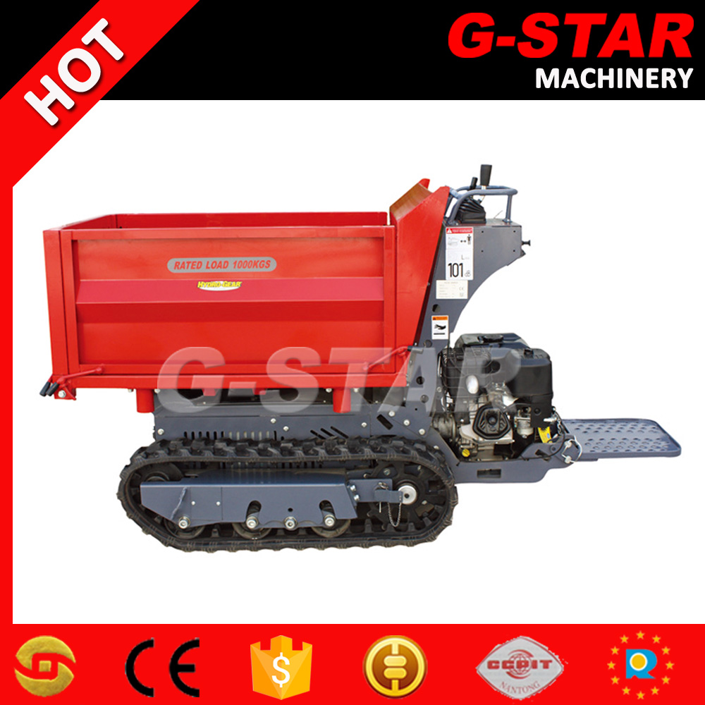 BY1000 hydraulic self unloading from 3 sides gas mini dumper truck