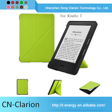 Green Color 6'' Case For kindle 7th gen case origami Genuine Leather Tablet Case