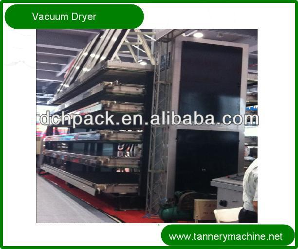 High capacity leather tannery vacuum dryer