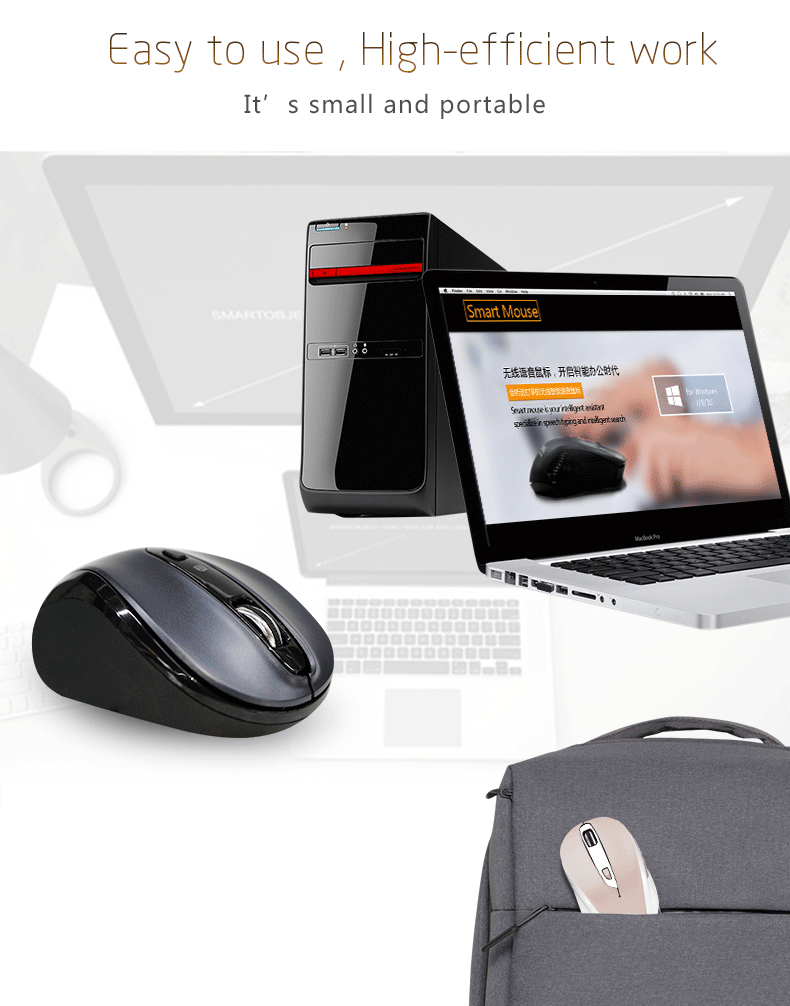 Smart optical wireless mouse,mini wireless computer smart voice mouse