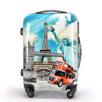 Hardshell PC Luggage with Tower Printing