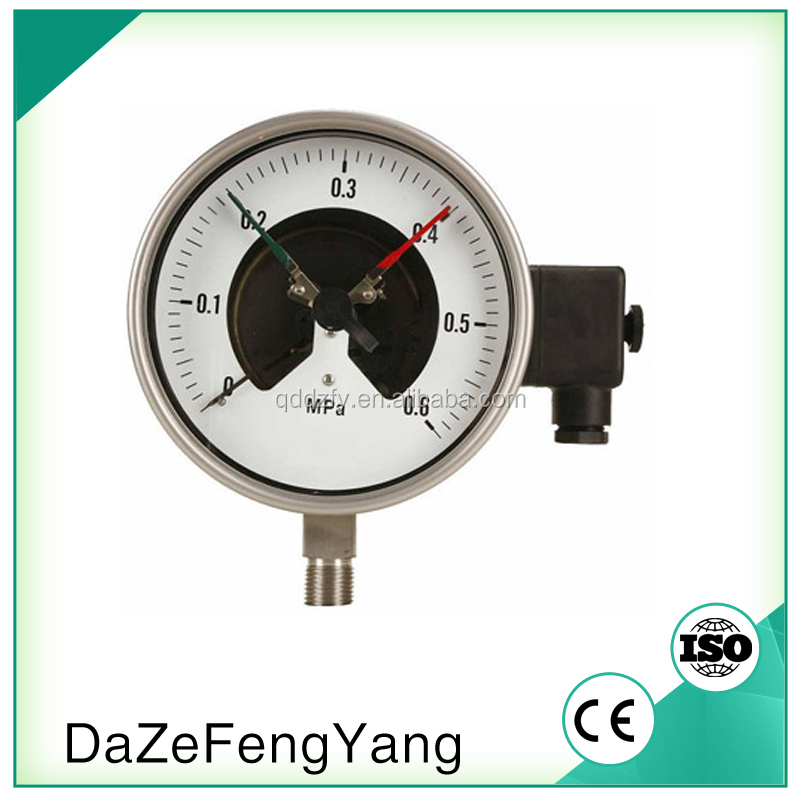China Wholesale Pressure Gauge With Magnetic Electrical Contact