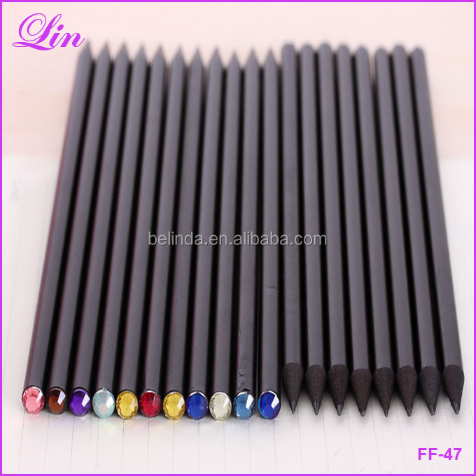 Free Shipping by DHL/FEDEX/SF Pencil Hb Diamond Color Pencil Stationery Items Drawing Supplies Cute Pencils For <strong>School</strong> Cute