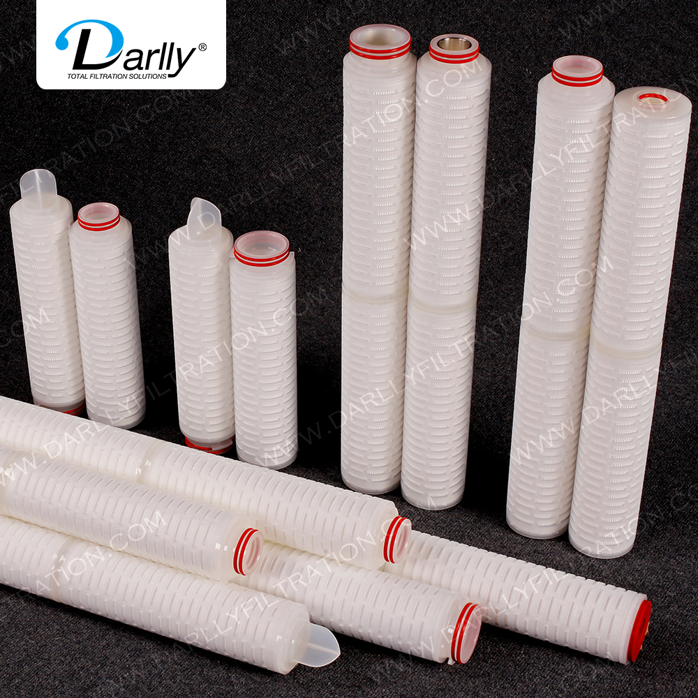 Darlly 0.22 Micron Nylon6 pleated membrane filter cartridge for food and beverage industry