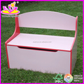 Hot new product for 2015 wooden home storage box for kids,cheap children home storage box,home folding chair storage box W08C013