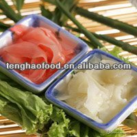 Tender ginger sweet and vinegar pickled sushi ginger